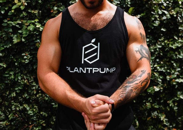 Plantpump signature unisex tank top (black)