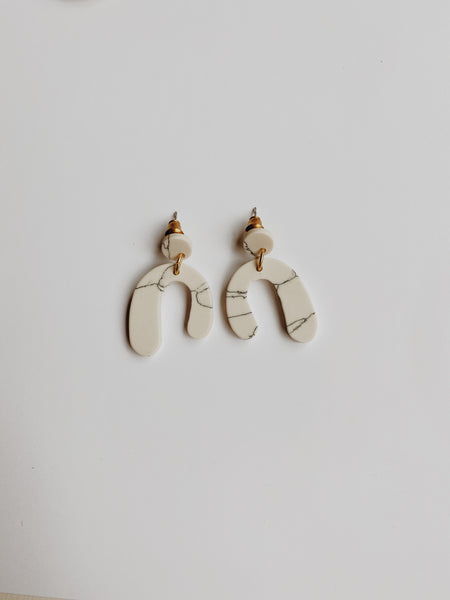 Marble Parabola Earrings