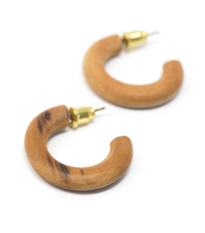Baby Teakwood Hoops