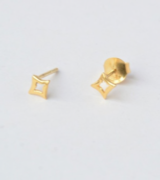 Golden Starburst Studs