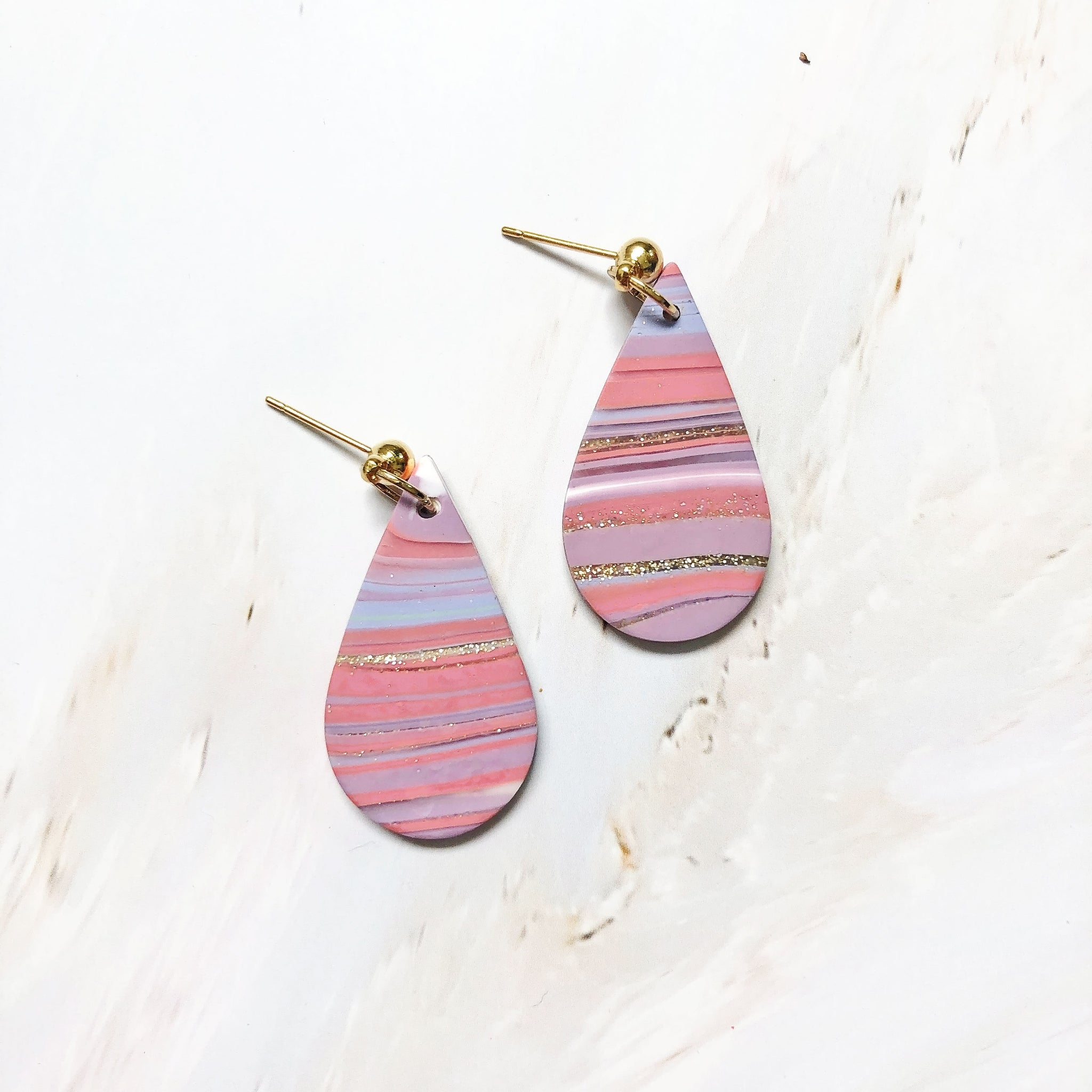 Agate Teardrop Dangles