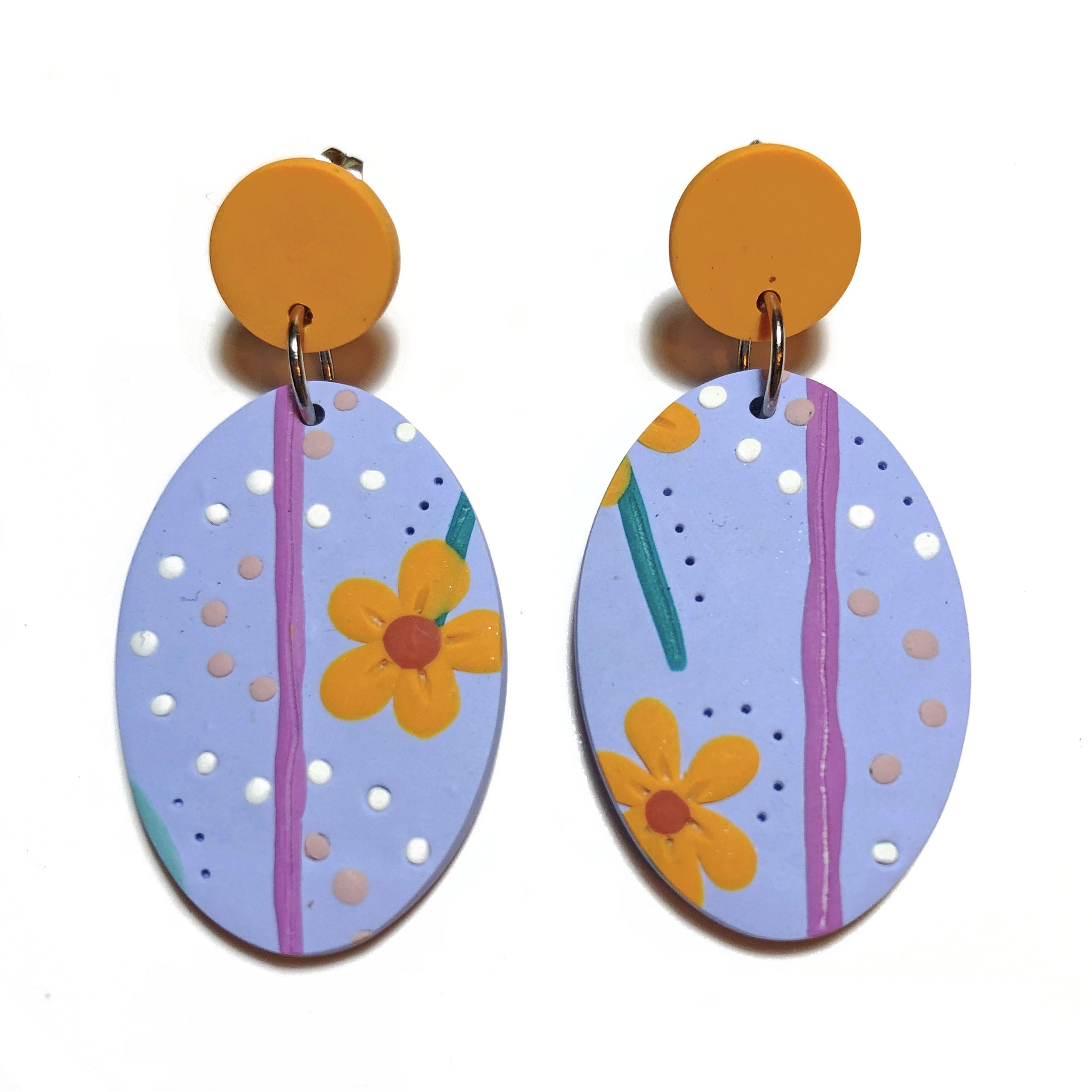 Floral Escapade Oval Dangles