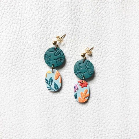 In Full Bloom Circle Tiered Dangles
