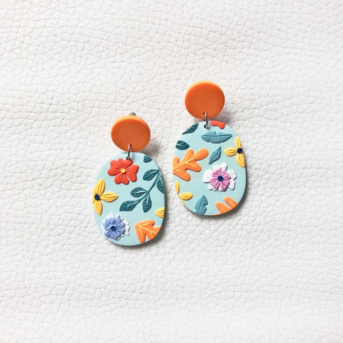 In Full Bloom Oval Dangles