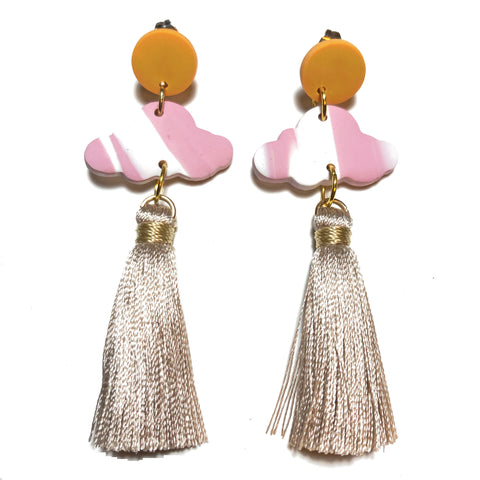 Cloud Tassel Dangles