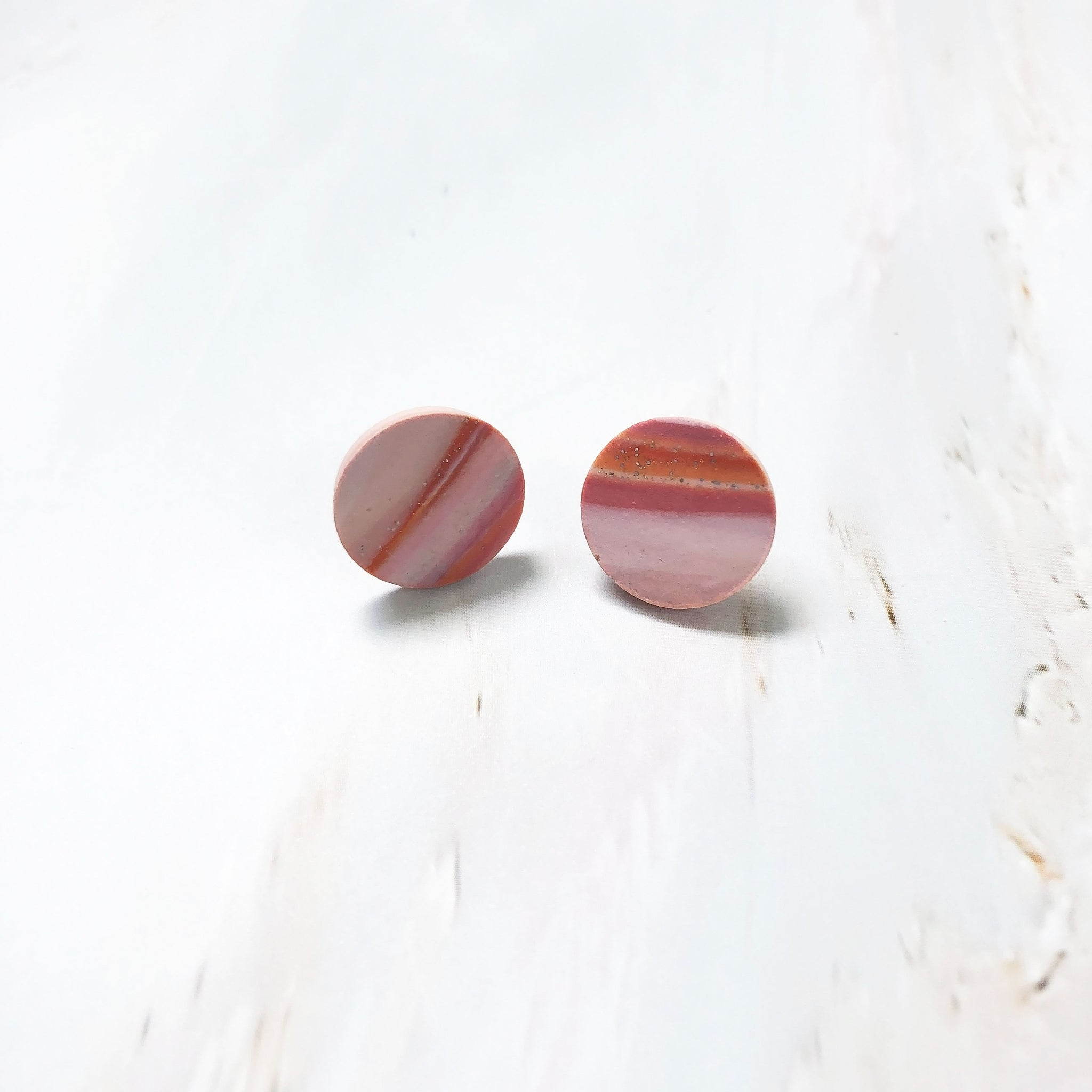 Agate Mini Studs (Sunset)
