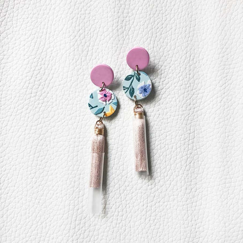 In Full Bloom Circle Tassel Dangles