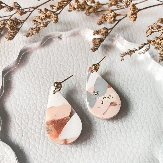 Copper Quartz Teardrop Dangles
