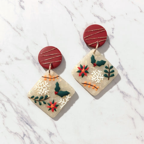 Holly Jolly Tile Dangle