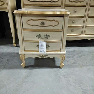French Provincial Nightstand w/Two Drawer