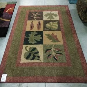 Tiled Leaf Botanical Rug