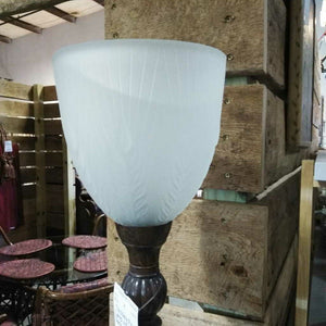 Torchiere Floor Lamp w/Frosted Glass Shade