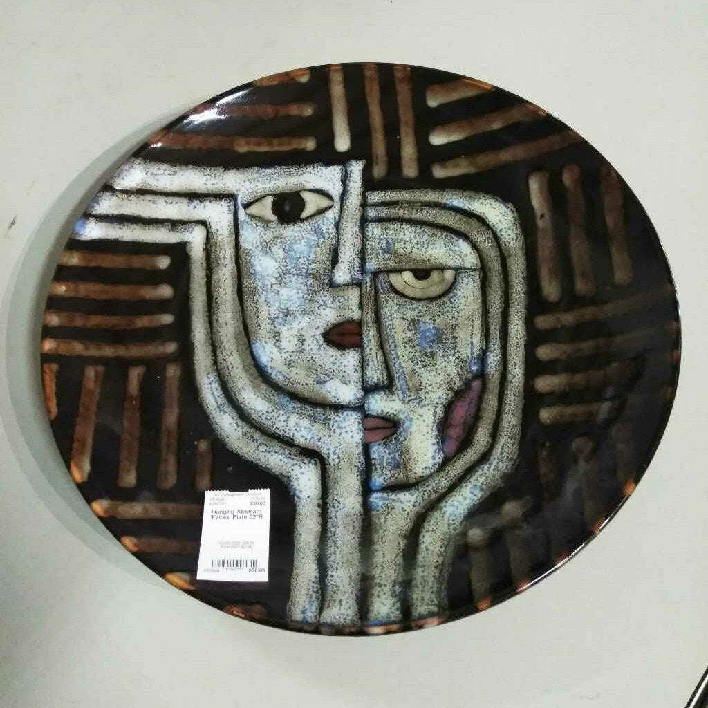 Hanging Abstract 'Faces' Plate