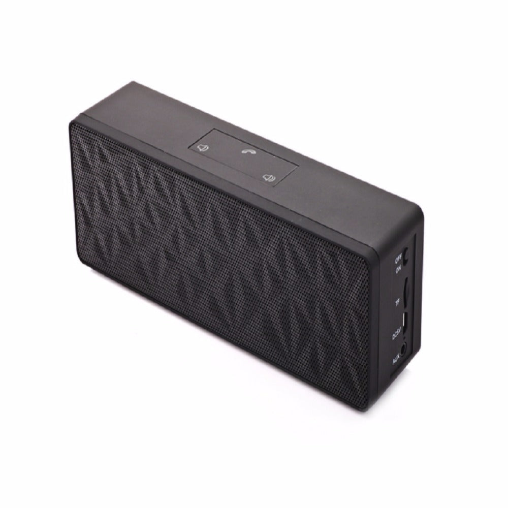 Wireless Best Bluetooth Speaker Portable Mini Column Box Loudspeaker Speaker My vision N16 2*3W Design for iPhone Xiaomi Black