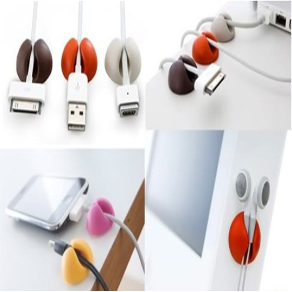 3 Pack Cable Clip Management System - Assorted Colors (Shipped From USA)