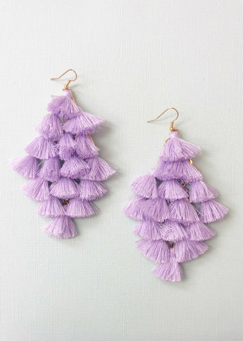 Lavender Tassels Earrings