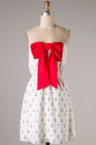 Sweet Bow Sailor Dress