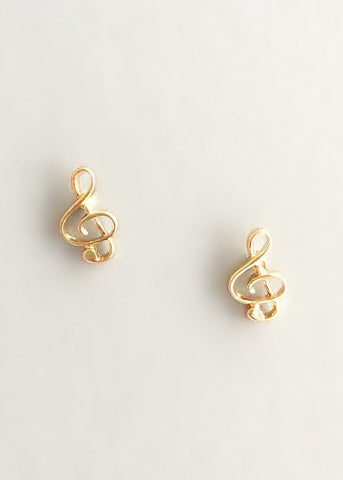 Dainty Musical Notes Earrings