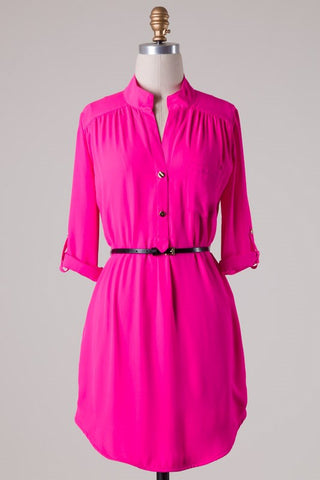 Hot Pink Alessa Dress