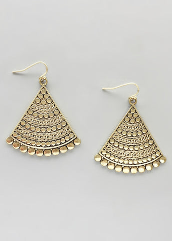 Antiqued Gold Earrings