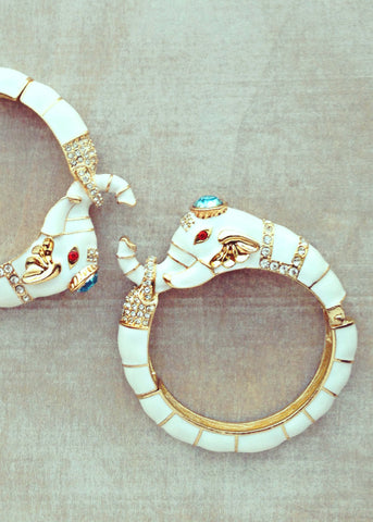 Enchanted Mughal Elephant Bangle
