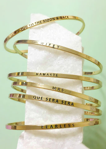 Exclusive Engraved Bangles