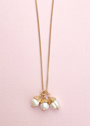 Three Graces Pearl Necklace