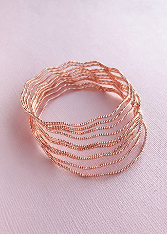 Sunset Gold Bangles