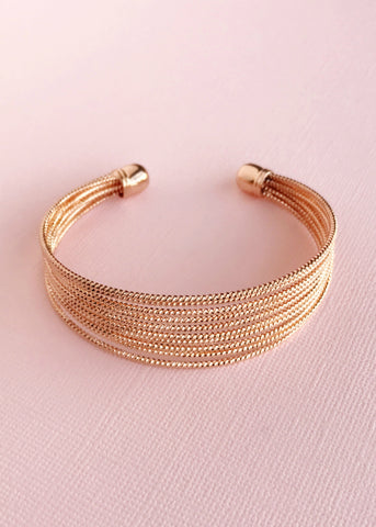 Alexa Blush Gold Bangle