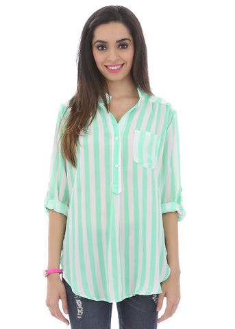 Minty Stripes Ice Cream Blouse