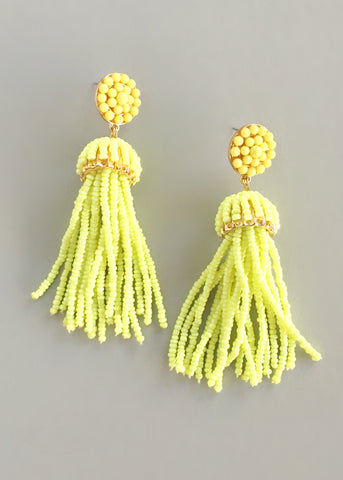 Island Kiss Fringe Earrings