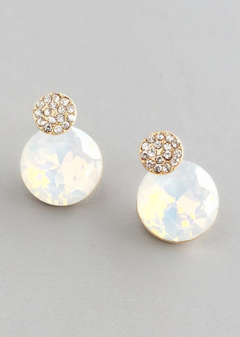 Elegant Soft White Crystal Earrings