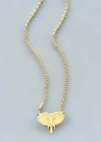 The Lucky Elephant Pendant Necklace