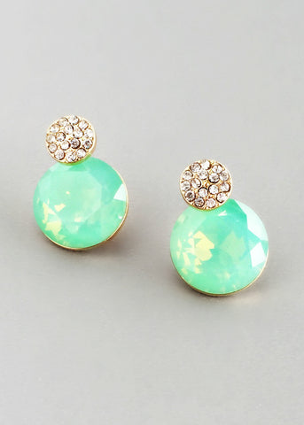 Maldives Crystal Stud Earrings