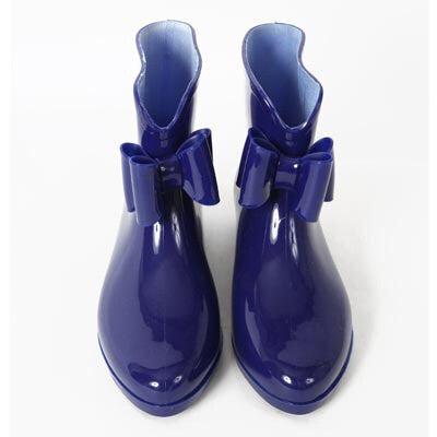 Sweet Paris Bow Rain Boots