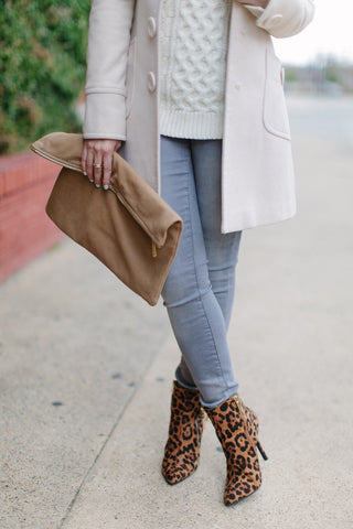 Samantha Leopard Booties