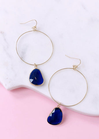 Ava Drop Earrings - Sapphire