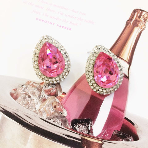 Dazzling Pink Swarovski Earrings