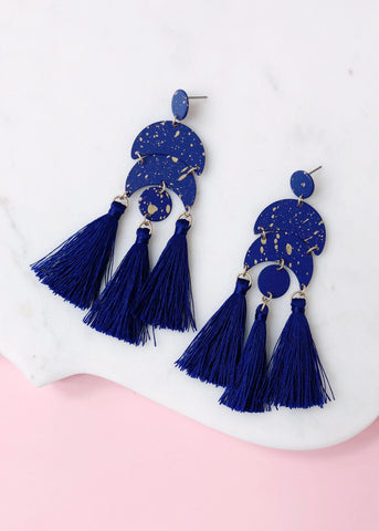 Starry Night Tassel Earrings
