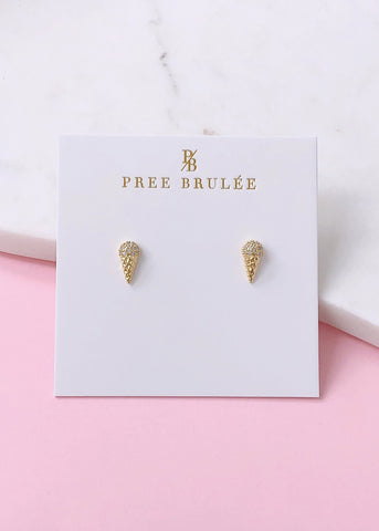 Adorable Icecream Earrings - 14K Gold Plated