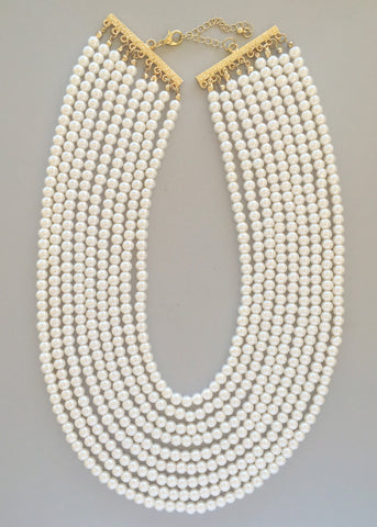 Sea of Pearls Statement Necklace