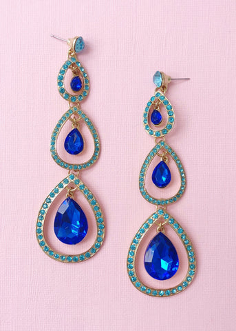 Magnificent Peacock Earrings