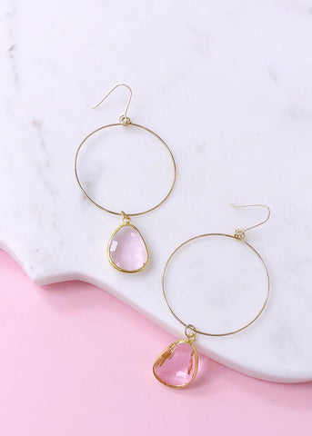Ava Drop Earrings - Blush