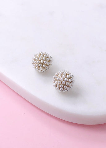 Larina Pearl Stud Earrings