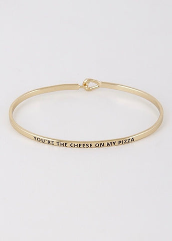 Cheese To My Pizza Bangle