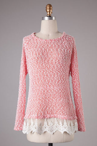 Strawberries & Cream Lace Sweater