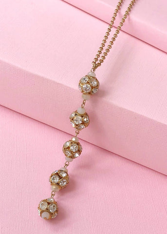 The Carrie Crystal Ball Necklace