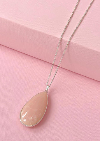 Soft Pink Pendant Necklace