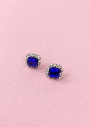 Royal Sapphire Stud Earrings