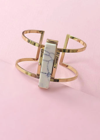 Sophisticated Marble Cuff